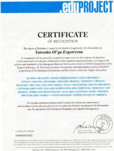sertificate recognition